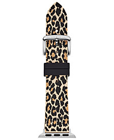 kate spade new york Women's Leopard Silicone Apple Watch® Strap