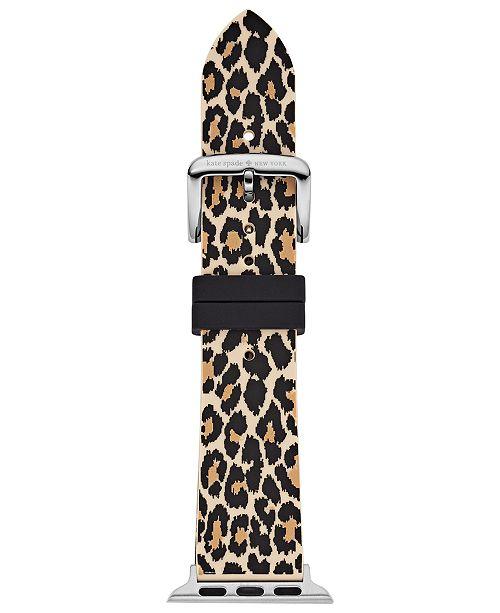 kate spade new york Women's Leopard Silicone Apple Watch® Strap