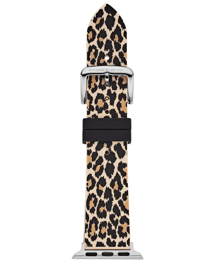kate spade new york - Women's Leopard Silicone Apple Watch® Strap