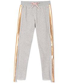 Calvin Klein Big Girls Foil-Stripe Jogger Pants