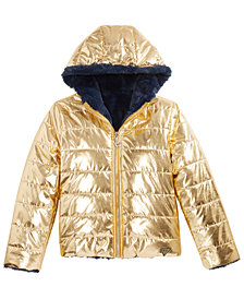 GUESS Big Girls Reversible Hooded Puffer Jacket