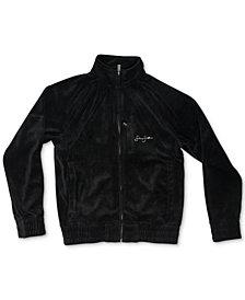 Sean John Big Boys Signature Velour Zip-Front Jacket