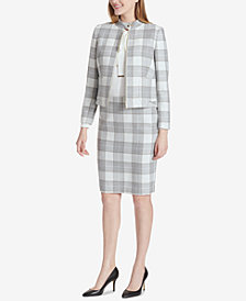 Tommy Hilfiger Plaid Jacket & Pencil Skirt