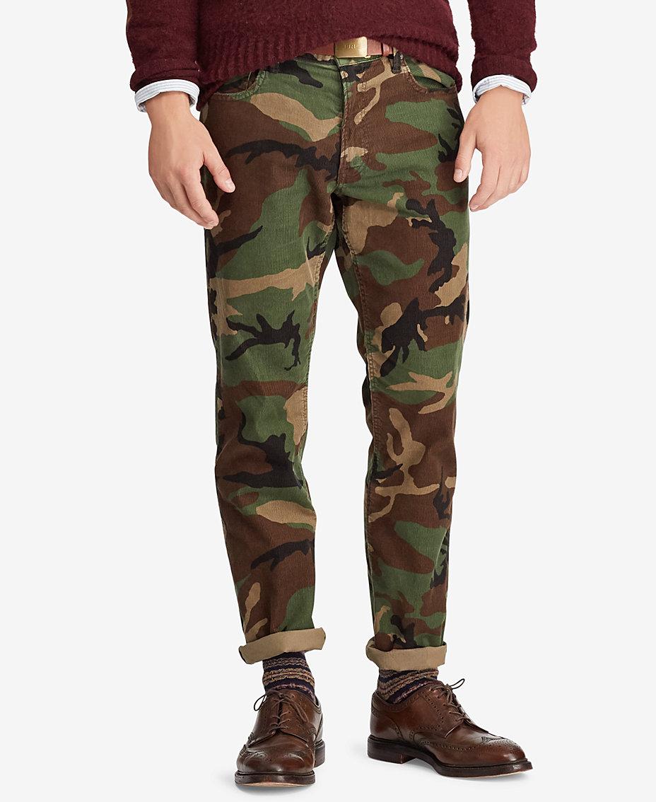 0e81797fa Polo Ralph Lauren. Men s Prospect Straight Stretch Camo Corduroy Pants
