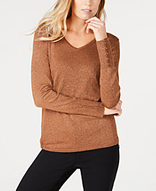 JM Collection Metallic Sweater, Created for Macy's