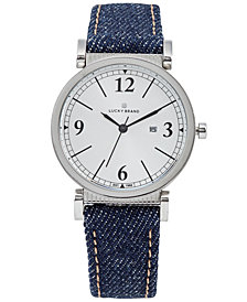 Lucky Brand Women's Carmel Indigo Denim Strap Watch 34mm