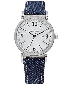 Lucky Brand Women's Carmel Indigo Denim Strap Watch 34mm