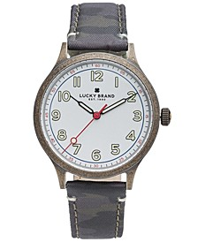 Men's Jefferson Camo Canvas Strap Watch 38mm