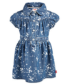 Levi's® Baby Girls Nora Star-Print Cotton Denim Dress