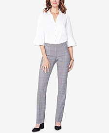 NYDJ Tummy-Control Plaid Trousers