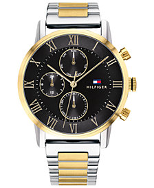 Tommy Hilfiger Men's Two-Tone Stainless Steel Bracelet Watch 44mm, Created for Macy's
