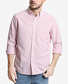 Nautica Men's Big & Tall Classic Fit Vertical Stripe Long Sleeve Shirt