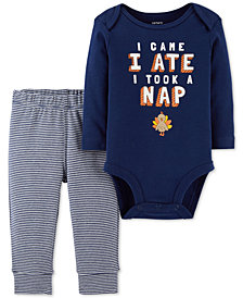 Carter's Baby Boys 2-Pc. Cotton Nap-Print Bodysuit & Pants Set