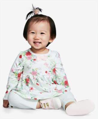 Baby Girls 2-Pc. Floral-Print Tunic & Leggings Set, Created for Macy's