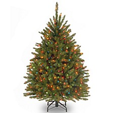 National Tree 4.5' Dunhill Fir Tree with 450 Multicolor Lights