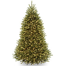 National Tree 7' Dunhill Fir Hinged Tree with 700 Clear Lights