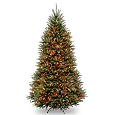 National Tree 9' Dunhill Fir Hinged Tree with 900 Multi Lights