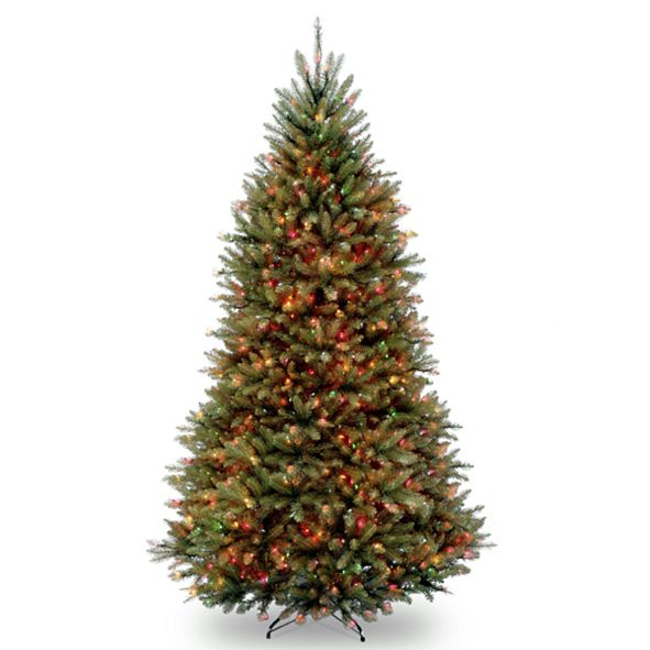National Tree Company National Tree 9' Dunhill Fir Hinged Tree with 900 Multi Lights