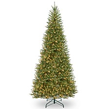 National Tree 12' Dunhill Fir Slim Tree with 1,000 Clear Lights