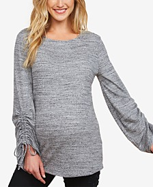 Motherhood Maternity Tie-Sleeve Top