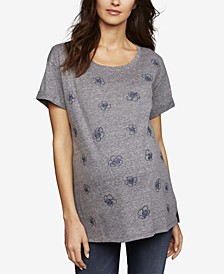 Maternity Embroidered Linen Top