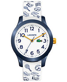 Lacoste Kids 12.12 White Silicone Strap Watch 32mm