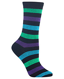Hot Sox Women's Bold Stripe Crew Socks