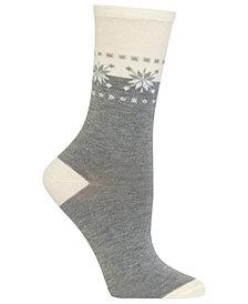 Hot Sox Women's Fair Isle Border Socks