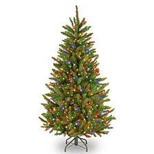 National Tree 4 .5' Natural Fraser Slim Fir Tree with 300 Multicolor Lights