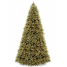 """National Tree 12' """"Feel Real"""" Downswept Douglas Hinged Tree with 1500 Clear Lights"""