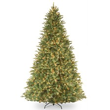 "National Tree 9' ""Feel Real"" Tiffany Fir Hinged Tree with 1050 Clear Lights"