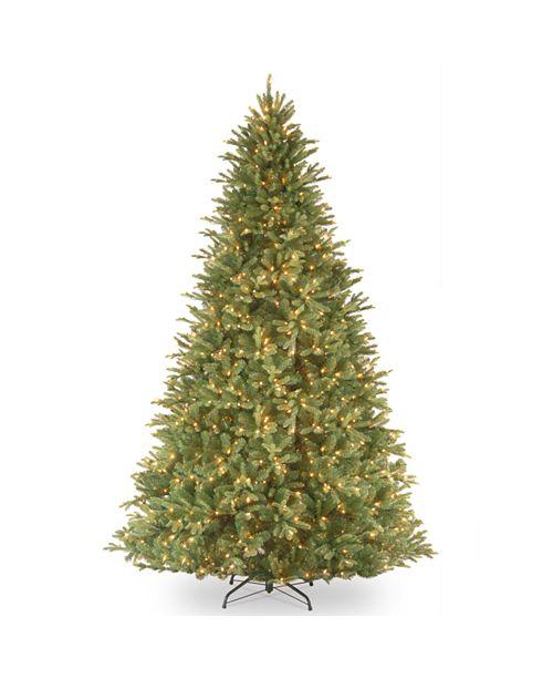 "National Tree Company National Tree 9' ""Feel Real"" Tiffany Fir Hinged Tree with 1050 Clear Lights"