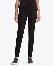 DKNY Leopard-Print Skinny Jeans, Created for Macy's