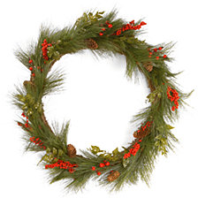 "National Tree Company 30"" Mixed Bristle Pine Wreath"