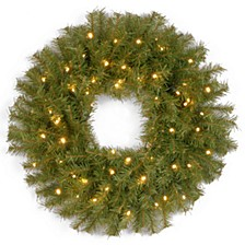 """30"""" Norwood Fir Wreath with 100 Battery Operated LED Lights"""