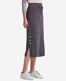 DKNY Side-Slit Sweater Skirt, Created for Macy's