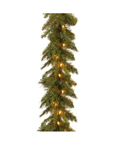"National Tree Company 9' x 10"" Tiffany Fir Garland with 50 clear lights"