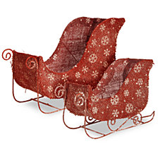 National Tree Santa's Sleigh Set