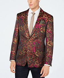 Tallia Men's Slim-Fit Rust Abstract Sport Coat