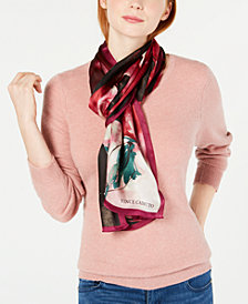 Vince Camuto Painterly Floral Silk Scarf