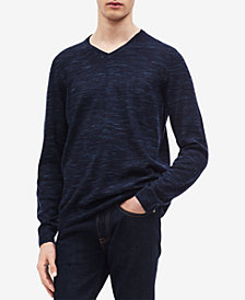 Calvin Klein Men's Space-Dyed V-Neck Sweater