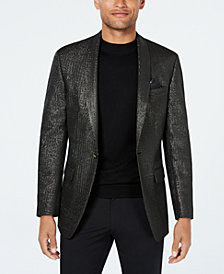Tallia Orange Men's Slim-Fit Black Metallic Dinner Jacket