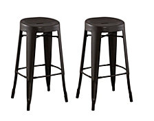 Contoured Seat, Round Backless Barstool