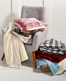 Biddeford Velour Sherpa Electric Heated Throw