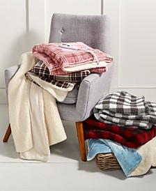 CLOSEOUT! Biddeford Velour Sherpa Electric Heated Throw