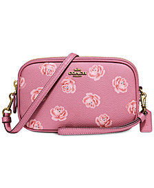 COACH Rose-Print Crossbody Clutch