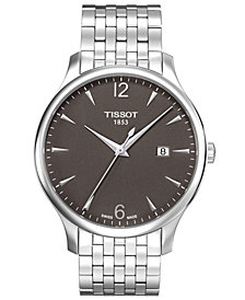 Tissot Men's Swiss Tradition Stainless Steel Bracelet Watch 42mm T0636101106700