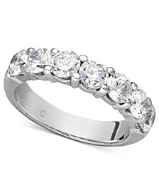 Certified Seven Diamond Station Band Ring in 14k White Gold (2 ct. t.w.)