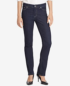 Lauren Ralph Lauren Petite Premier Straight Denim, Petite & Petite Short Lengths