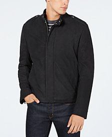 HUGO Men's Slim-Fit Lined Leather Jacket